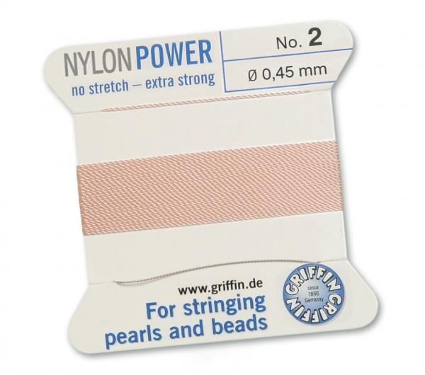 Griffin Perlseide Nylon Power No. 2 hellrosa 0,45 mm