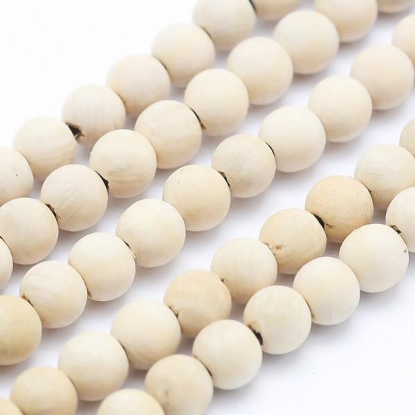 Natürlicher Zedernholz PerlenstrangThuja Sutchuenensis rund 6 mm (ca. 64 Perlen / ca. 40 cm Länge)