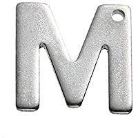 Buchstaben Anhänger Edelstahl Charm Buchstabe M