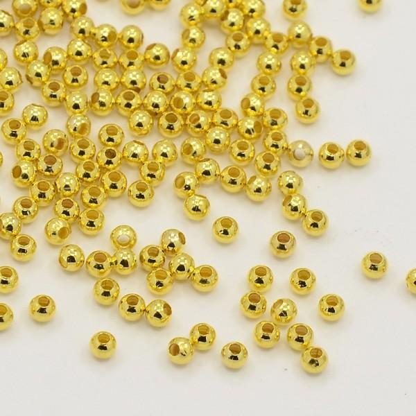 5 Gramm (ca. 120 Stück) Messing Zwischenperlen nahtlos goldfarben