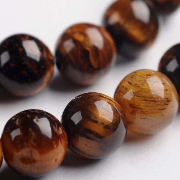 SONDERVERKAUF - JEDER STRANG HAT 3 - 4 PERLEN MIT KLEINEN MÄNGELN Natürlicher Tigerauge Perlenstrang