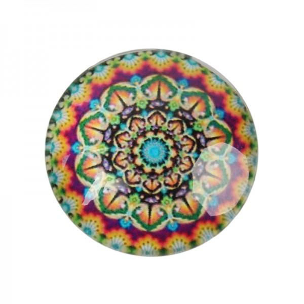 Glas Cabochon geometrische Blume