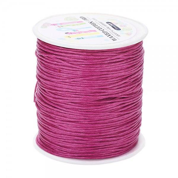 5 Meter gewachste Baumwollschnur pink