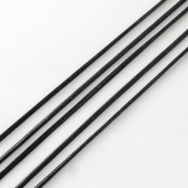 2 Meter Kunstlederschnur schwarz