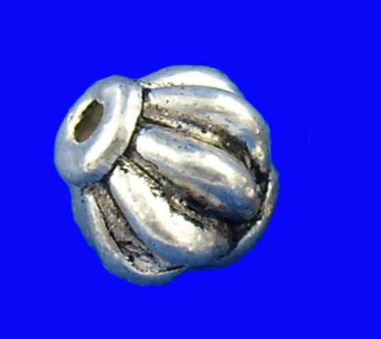 60 Zwischenperlen Lampion antik silberfarben 6 mm
