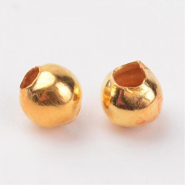 100 Metall Zwischenperlen goldfarben 3 mm