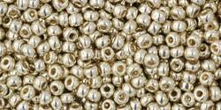 TOHO 11/0 PermaFinish galvanized aluminium 5 Gramm 2 mm seedbeads