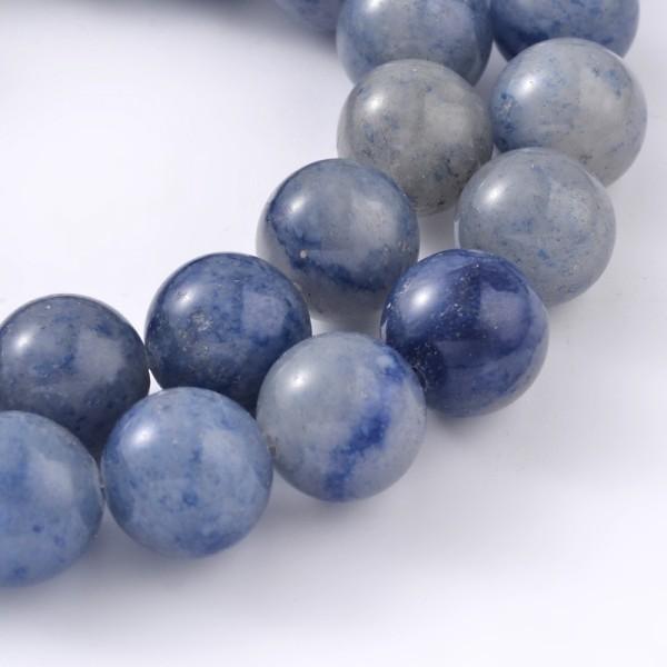 Natürlicher Aventurin Perlenstrang glatt 6 mm (ca. 62 Perlen / ca. 39 cm Länge)