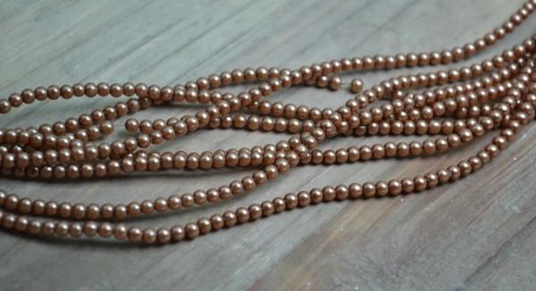 Glaswachsperlen Strang (ca. 220 Perlen / ca. 70 cm)