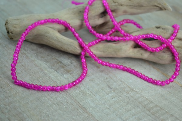 Crackle Glasperlenstrang pink (ca. 190 Perlen)