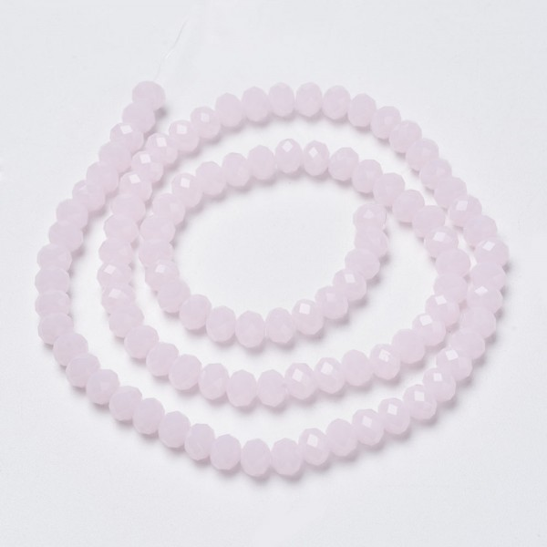 Facettierter Glasperlenstrang rosa 3 x 2 mm (ca. 190 Perlen)