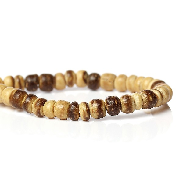 1 Strang (ca. 140 Perlen) Kokosnussperlen naturfarben