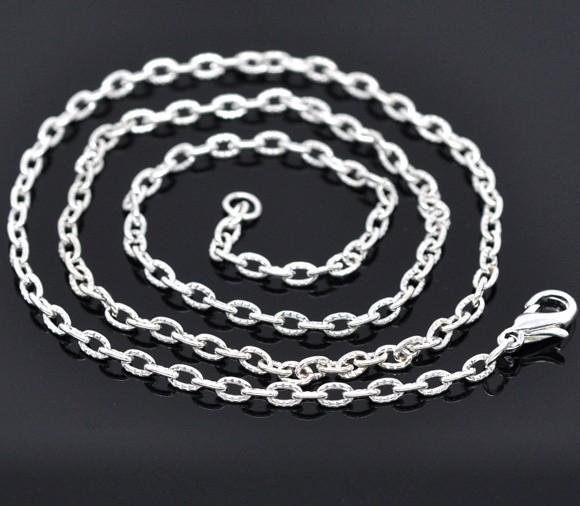 Halskette versilbert