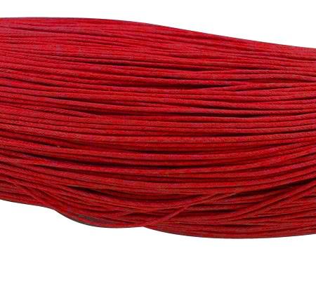 5 Meter gewachste Baumwollschnur rot 0,7 mm
