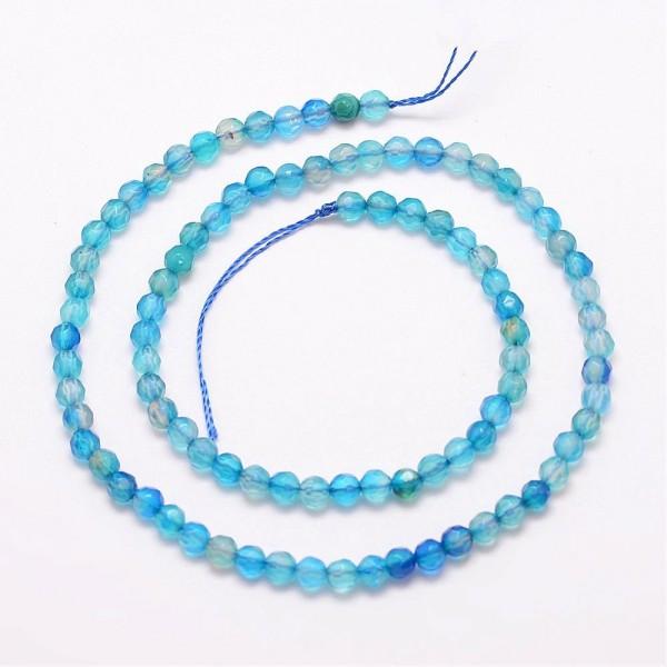 1 Strang Indische Achat Perlen 4 mm facettiert (ca. 90 Perlen)