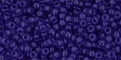 TOHO 11/0 transparent cobalt Glasperlen 5 Gramm 2 mm seedbeads