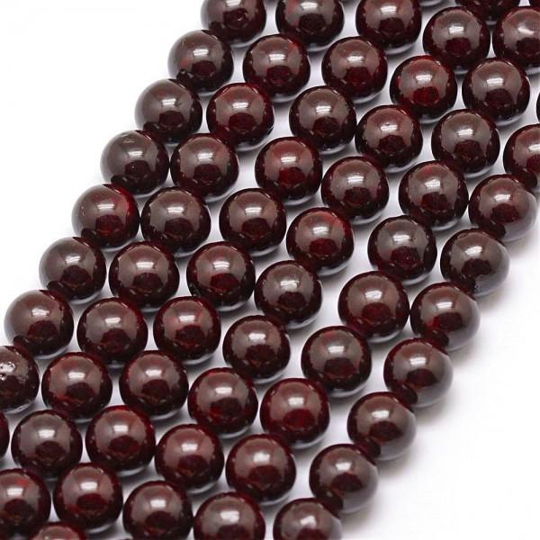 Fossiler Perlenstrang glänzend indigo 6 mm (ca. 66 Perlen / ca. 39 cm)