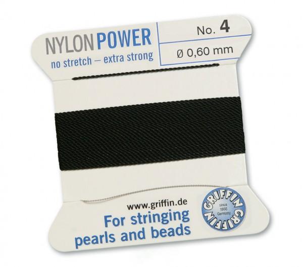 Griffin Perlseide Nylon Power No. 4 schwarz 0,60 mm