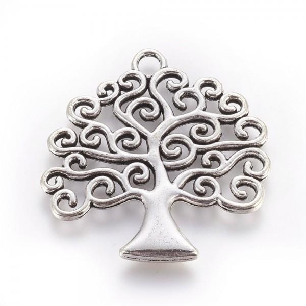 Tibetischer Metall Anhänger Baum des Lebens 39 x 39 x 3 mm