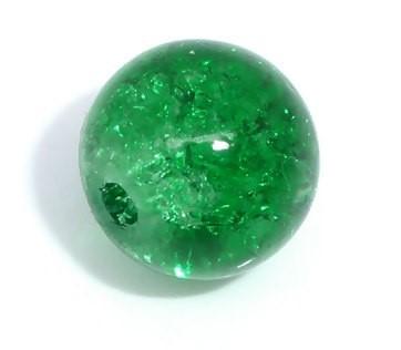 20 Crackle Glasperlen rund grün 8 mm