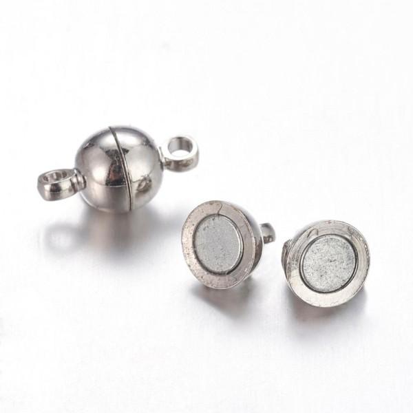 2 Magnetverschlüsse platinfarben 12 x 6 mm