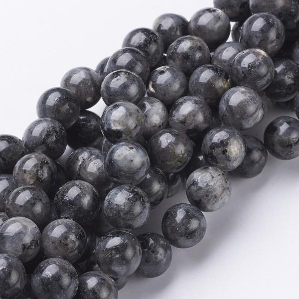 Natürlicher Labradorit Perlenstrang rund glatt 4 mm (ca. 91 Perlen / ca. 39 cm Länge)