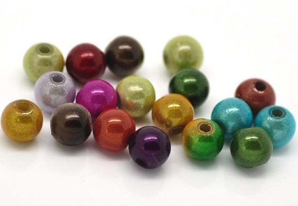 200 Acryl Miracle Perlen 6 mm