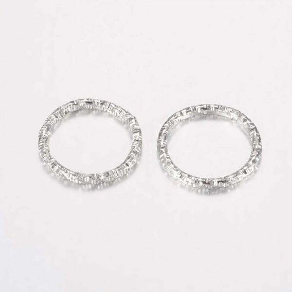 10 Verbinder Ringe aus Eisen geschlossen aber ungeschweißt platinfarben 15 x 1,5 mm