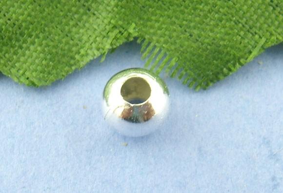 50 Zwischenperlen aus Metall versilbert 4 mm