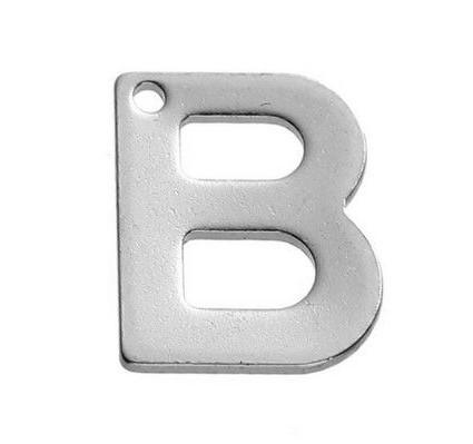 Buchstaben Anhänger Edelstahl Charm Buchstabe B