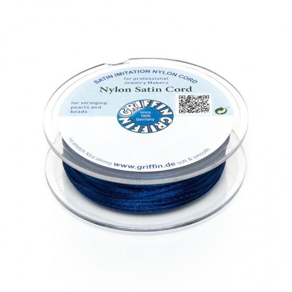 5 Meter Griffin Nylon Satinschnur auf Spule dunkelblau