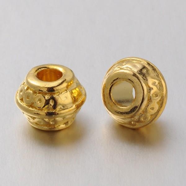 10 Metall Zwischenperlen Tibetischer Stil goldfarben
