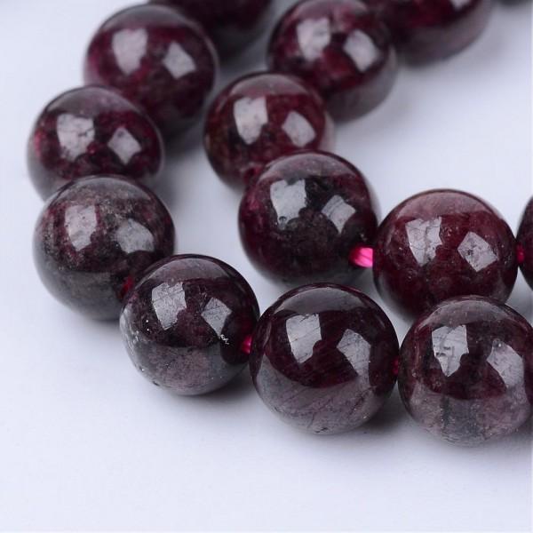 Natürlicher Granat Perlen Strang rund 4 - 4,5 mm (ca. 96 Perlen / ca. 39 cm lang)