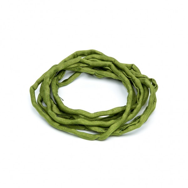 Habotai Seidenband handgefärbt und handgenäht olive