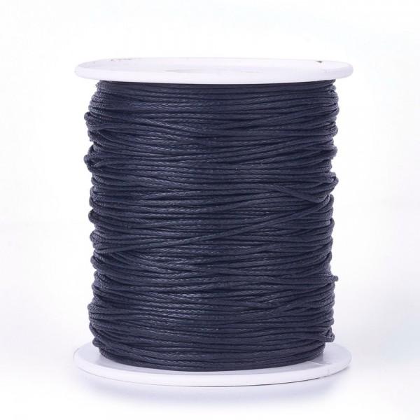 5 Meter gewachste Baumwollschnur dunkelblau Stärke 1 mm