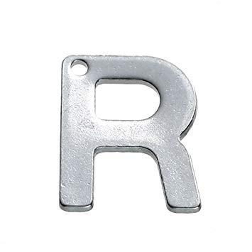 Buchstaben Anhänger Edelstahl Charm Buchstabe R