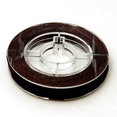 Nylonschnur auf Rolle dunkelbraun 0,8 mm ca. 7 Meter