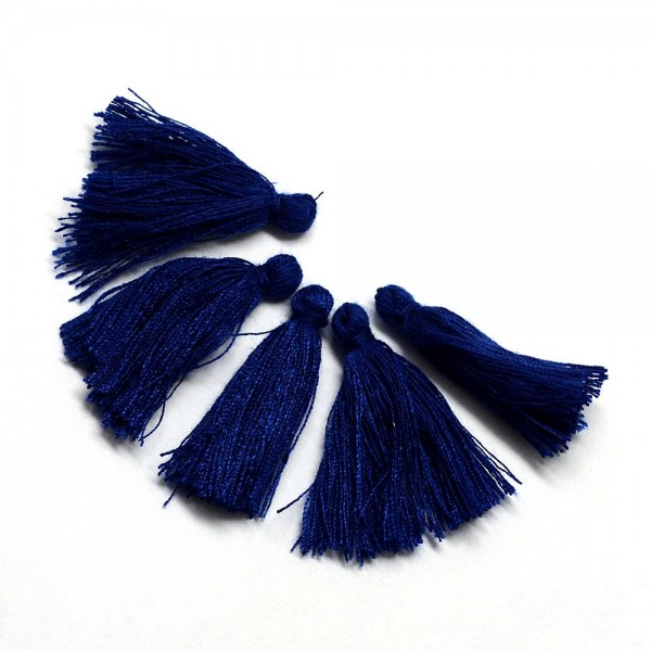Baumwollfaden Quasten mitternachtsblau