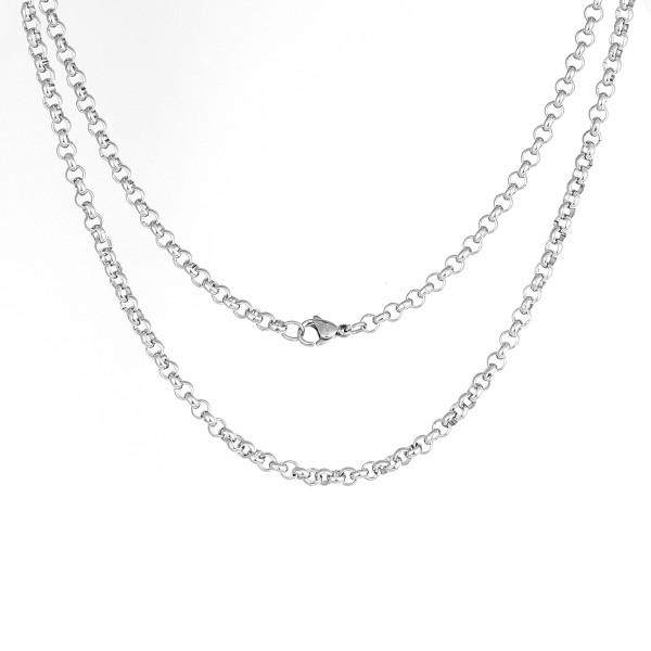 Edelstahl Halskette mit Verschluß