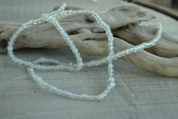 Crackle Glasperlenstrang weiss (ca. 190 Perlen)