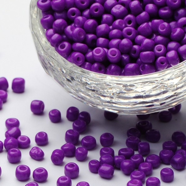 50 Gramm Mini Rocailles lila