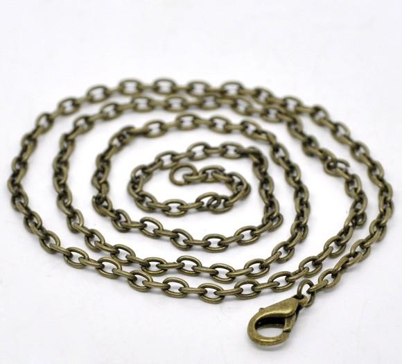 Halskette bronzefarben mit Verschluss