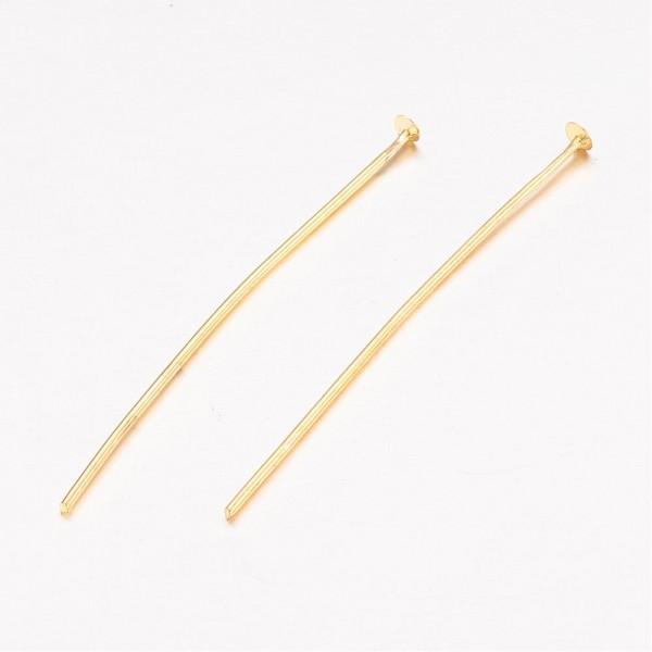 10 Gramm (ca. 50 Stück) Nietstifte aus Eisen goldfarben