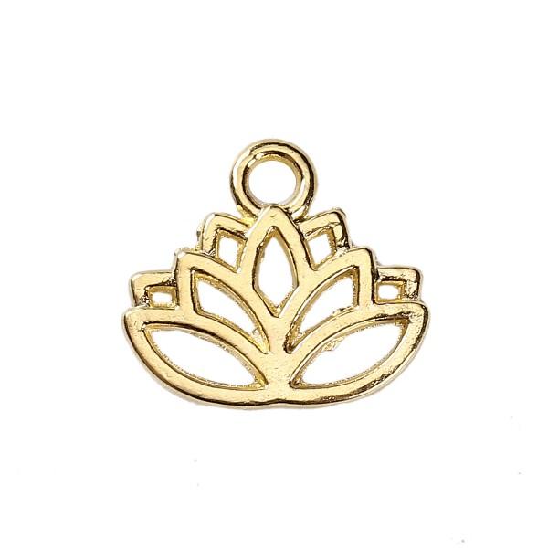 3 Charms Lotusblume goldfarben
