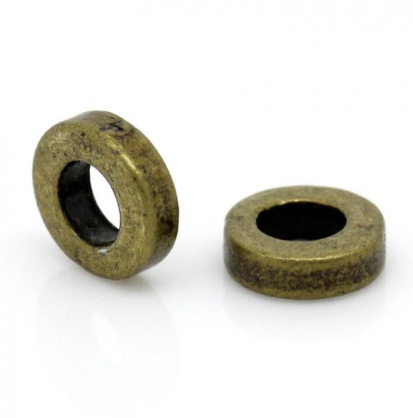 20 Metall Zwischenperlen rund bronzefarben
