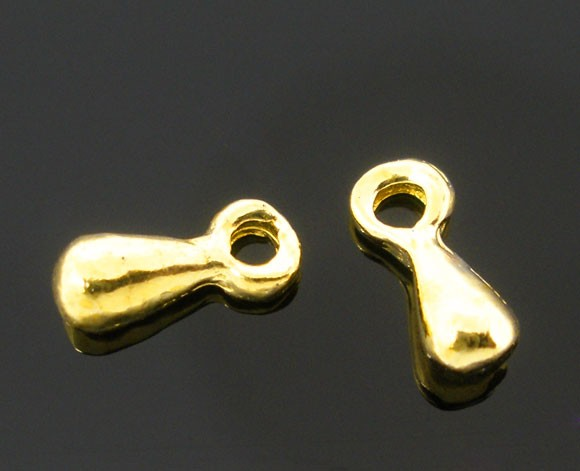20 Charm Tropfen goldfarben klein