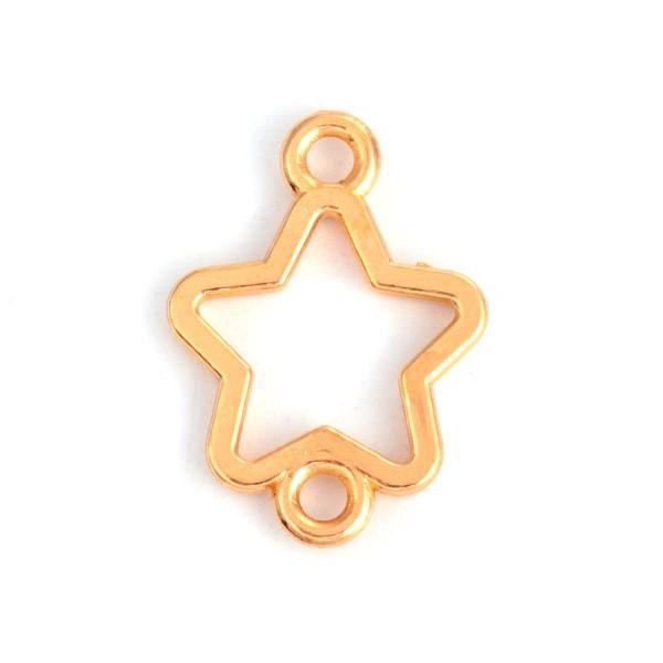 Verbinder Stern vergoldet 16 mm x 12 mm