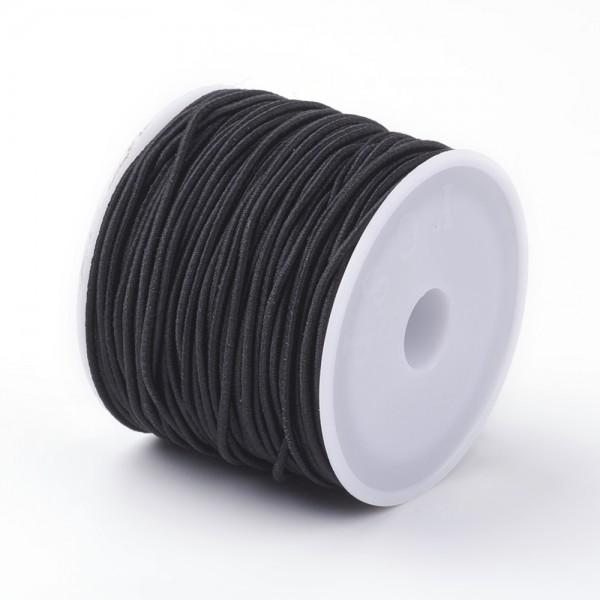 1 Rolle elastische Schnur schwarz (ca. 18 - 20 Meter)