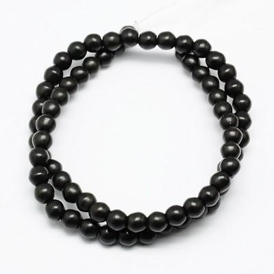 1 Strang schwarze Glasperlen 4 mm (ca. 100 Perlen)
