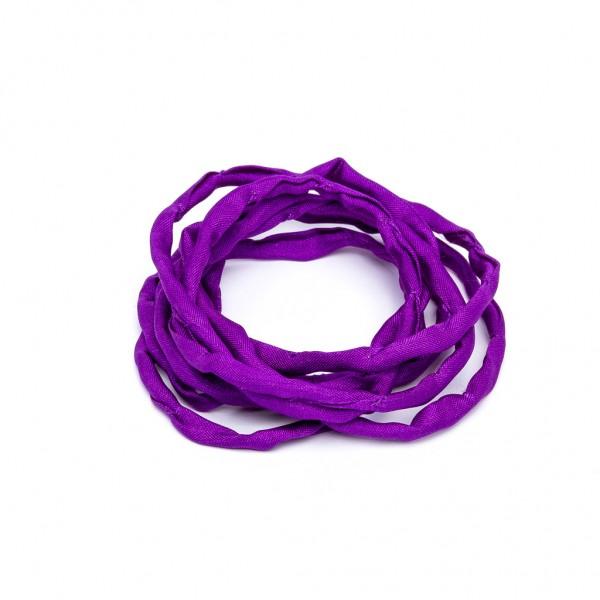 Habotai Seidenband handgefärbt und handgenäht amethyst